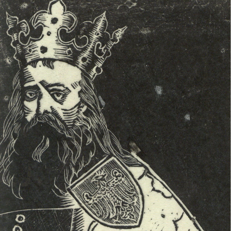 Portret Kazimierza Wielkiego wykonany przez Tadeusza Cieślewskiego według wzoru Jana Matejki. 1924 rok