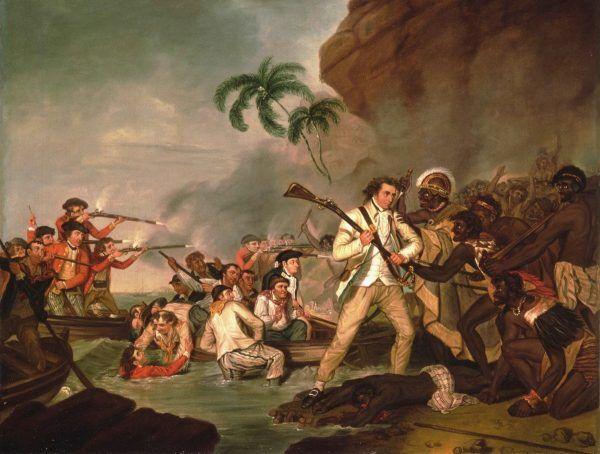 """Śmierć kapitana Jamesa Cooka"". Obraz George'a Cartera."