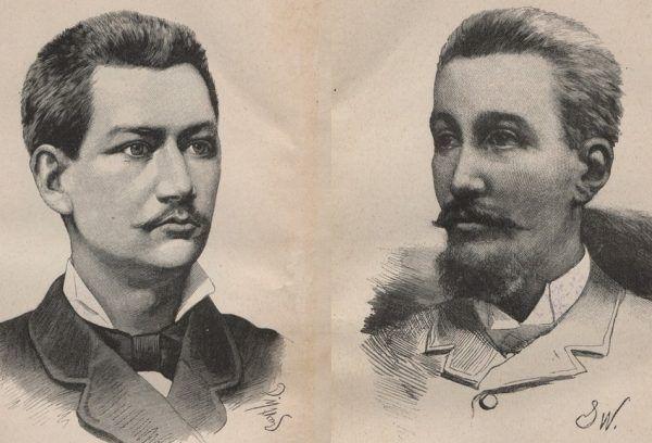 Towarzysze wyprawy Rogozińskiego Klemens Tomczek i Leopold Janikowski.