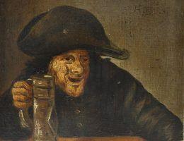 """Czyzby alkohol zapobiegał wszelkim... """"chorobom""""? Tak twierdzi jeden z naszych Czytelników. Fragment obrazu Andriaena Brouwera."""
