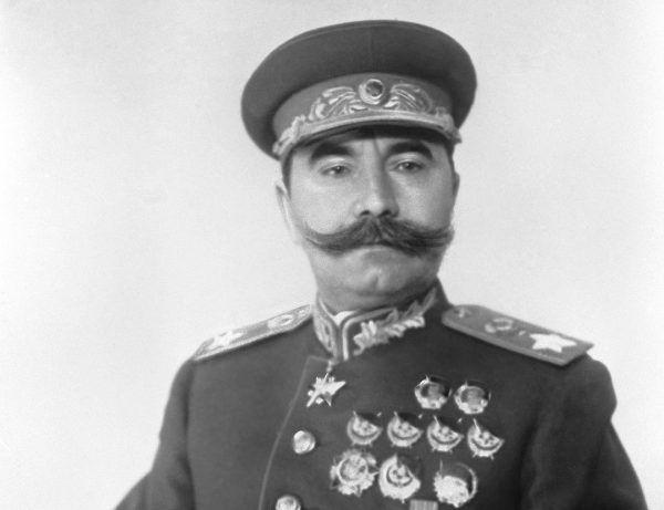 Na czele radzieckiej 1 Armii Konnej stał Siemion Budionny. Zdjęcie z 1943 roku.