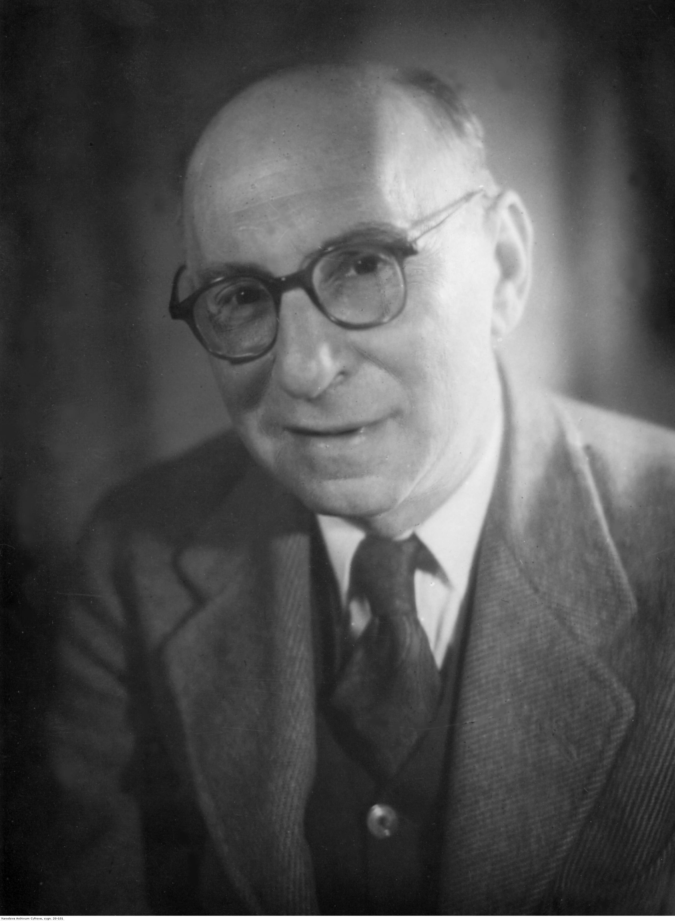 Antoni Słonimski na fotografii portretowej z końca lat 40.