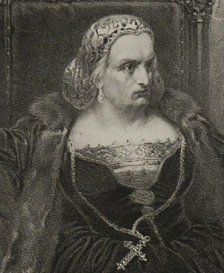 Bona Sforza w wyobrażeniu Władysława Walkiewicza. Połowa XIX wieku