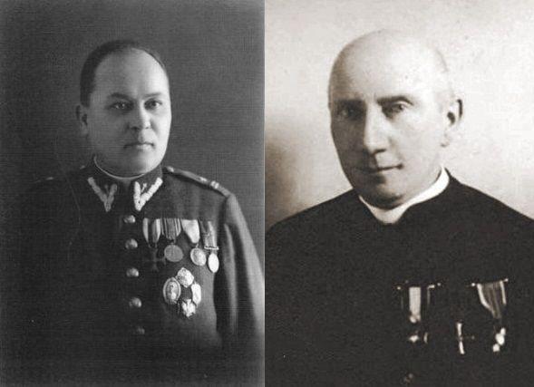 Aby zostać kapelanem w Wojsku Polskim, trzeba było spełnić szereg zasad. Na zdjęciu od lewej ks. Jan Ziółkowski oraz ks. Mateusz Zabłocki - starsi kapelani Wojska Polskiego.