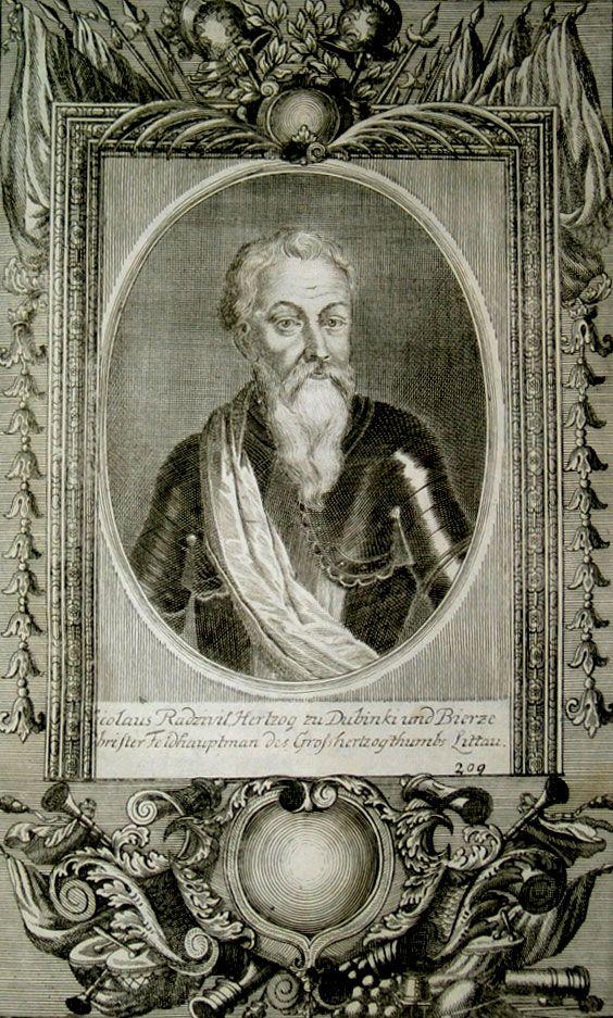 Mikołaj Radziwiłł Rudy na XVIII-wiecznej podobiźnie