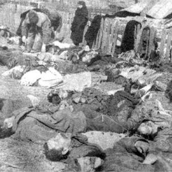 Ofiary rzezi wołyńskiej z miejscowości Lipniki (fot. domena publiczna)