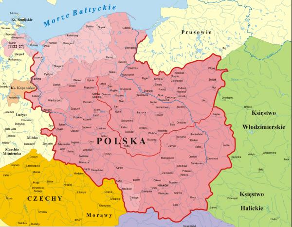 Polska za panowania Bolesława Krzywoustego.