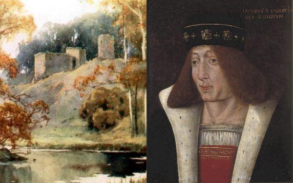 """Król Szkocji Jakub II zginął od """"ukąszenia"""" swojego """"lwa"""" podczas oblężenia zamku Roxburgh."""