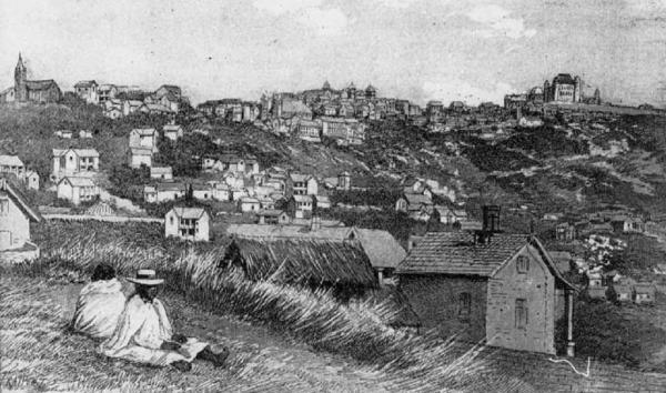Wspomnienie Beniowskiego do dzisij jest żywe na Madagaskarze. Na ilustracji stolica wyspy, Atananarywa, około 1860 roku.
