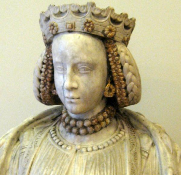 Pierwszą żoną Zygmunta Jagiellończyka była Barbara Zápolya. Na zdjęciu popiersie władczyni autorstwa nieznanego rzeźbiarza.