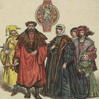 Bona Sforza i Zygmunt Stary na rysunku Jana Matejki.