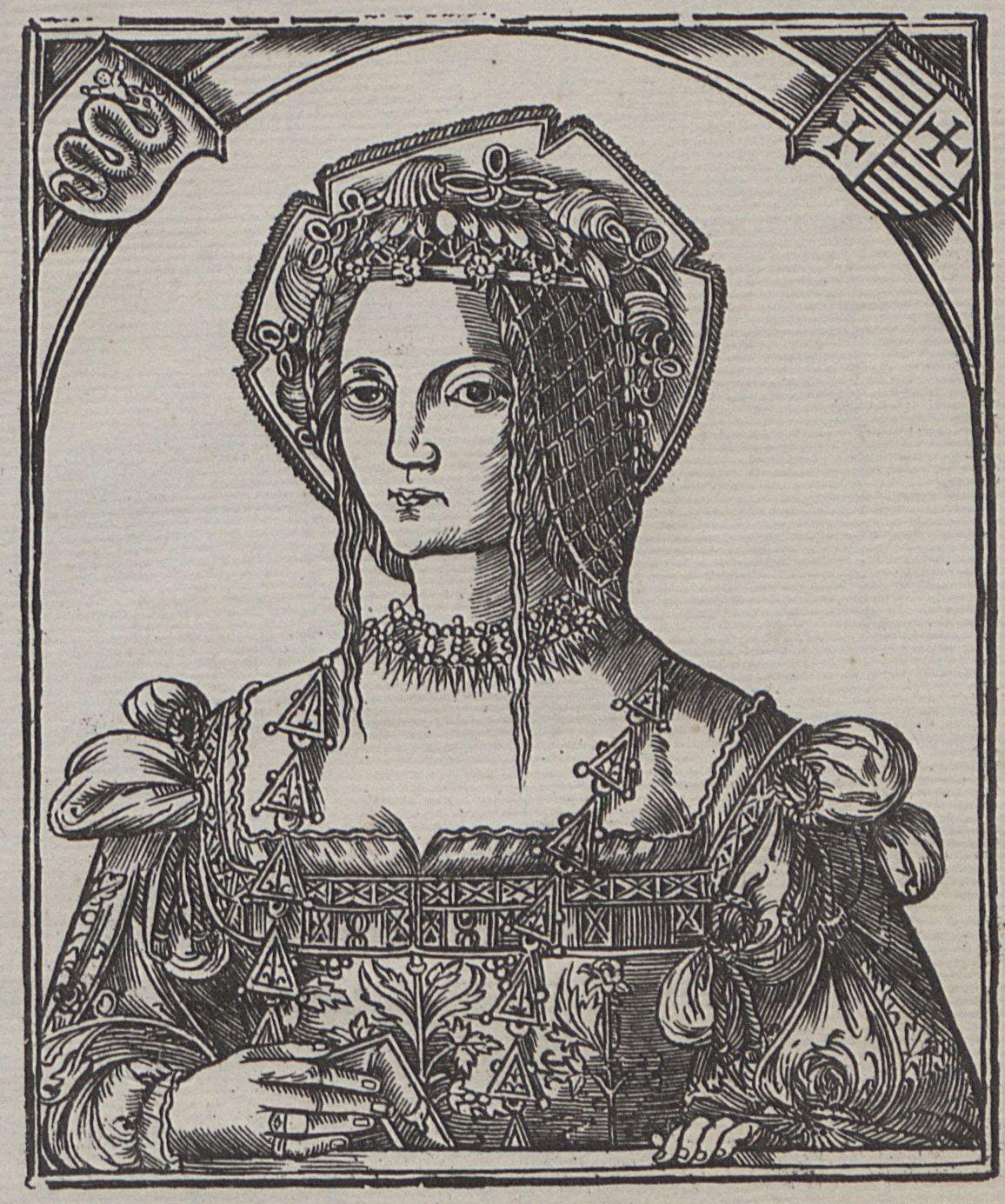 Izabela włożyła wiele wysiłku by jej córka została polską królową. Na ilustracji przedstawiający Bonę.
