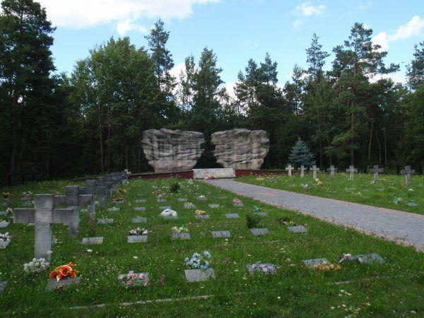Cmentarz, na którym spoczywają ofiary pacyfikacji wsi Skłoby.