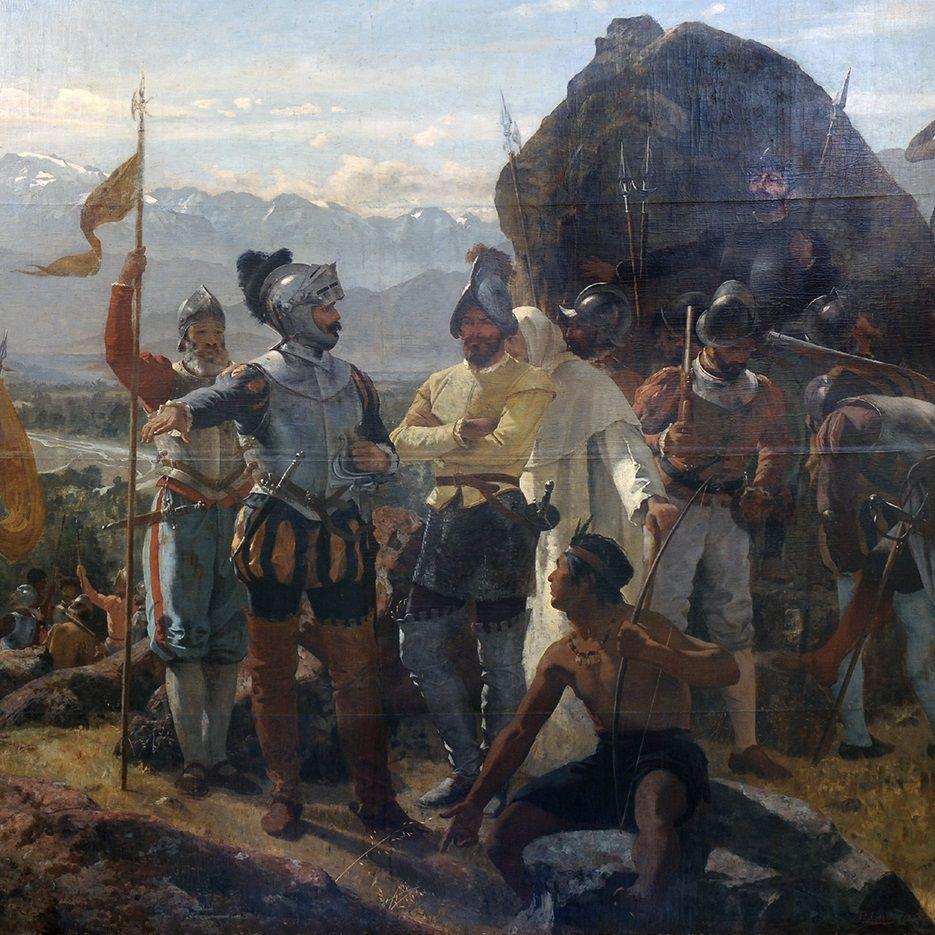 Konkwistadorzy hiszpańscy.