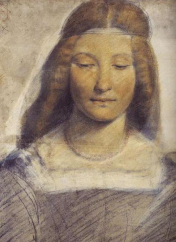 Matka Bony Izabela Aragońska na portrecie pędzla Giovanniego Antonia Boltraffio.