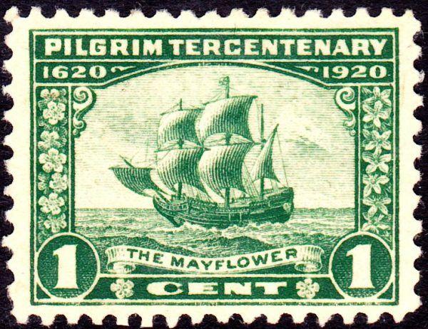 """""""Mayflower"""" w 1920 roku został nawet upamiętniony na znaczku."""