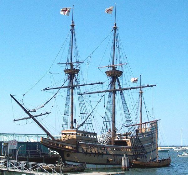"""""""Mayflower"""" był żaglowcem i typowym jak na swoje czasy statkiem handlowym."""