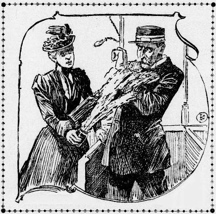 Powszechnie twierdzono, że tylko kobiety są na tyle tchórzliwe, by używać kwasu jako broni. Fotografia z amerykańskiej prasy z przełomu XIX i XX wieku.