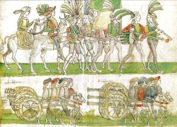Po tym jak ojciec Izabeli przegrał z Francuzami, został zmuszony do abdykacji. Na ilustracji uwieczniono moment kroczenie francuskich wojsk do Neapolu.