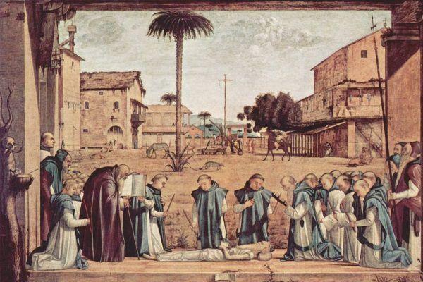 Święty Hieronim za życia, jak i po śmierci otaczany był przez swoich uczniów wielkim szacunkiem.
