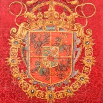 W szwedzkich muzeach można znaleźć wiele cennych polskich zabytków. Na ilustracji fragment chorągwi trębaczy i doboszów pałacowych Zygmunta III Wazy.