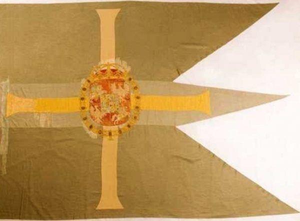 Chorągiew króla Jana II Kazimierza Wazy, którą można zobaczyć w Armémuseum.