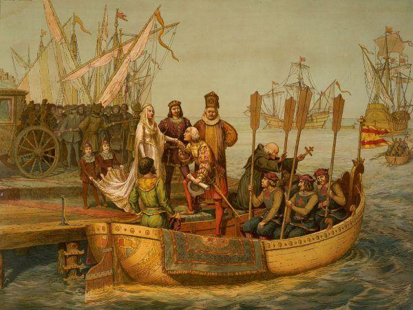 """Kolumb trzy razy wyruszał z Hiszpanii na wyprawy """"do Indii""""."""