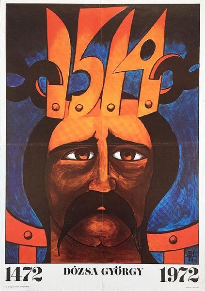 György Dózsa na węgierskim plakacie z 1972 roku