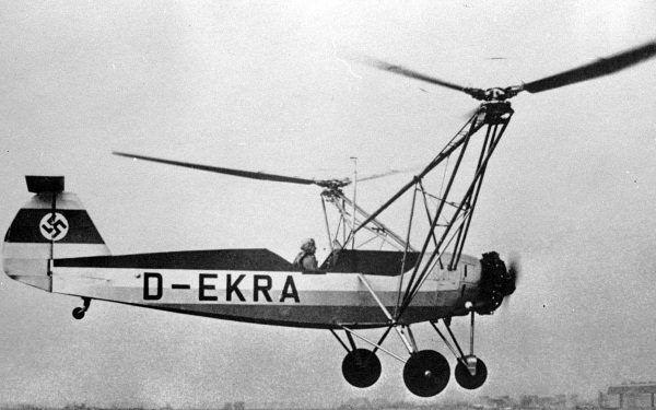 Hanna Reitsch lecąca Focke-Wulf Fw 61 (fot. ADL, lic. DNU FDL)