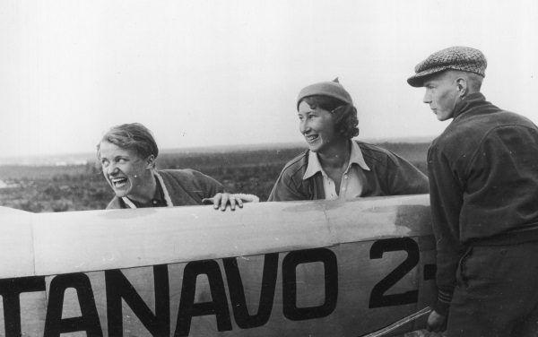 Hanna Reitsch na zawodach szybowcowych w 1935 (fot. materiały prasowe wydawnictwa Bellona)