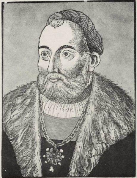 Jan Zapolya na rycinie Erharda Schona.