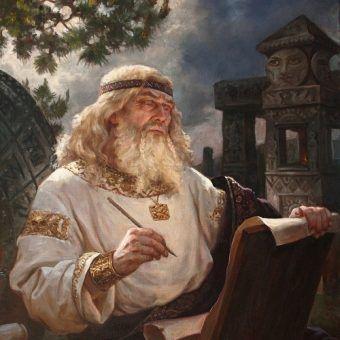 Jeden ze słowiańskich bogów w wyobrażeniu Andreya Shishkina.