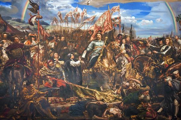 Wielkopomne zwycięstwo Jana Sobieskiego nad Turkami uwiecznił pędzlem na półtnie Jan Matejko.