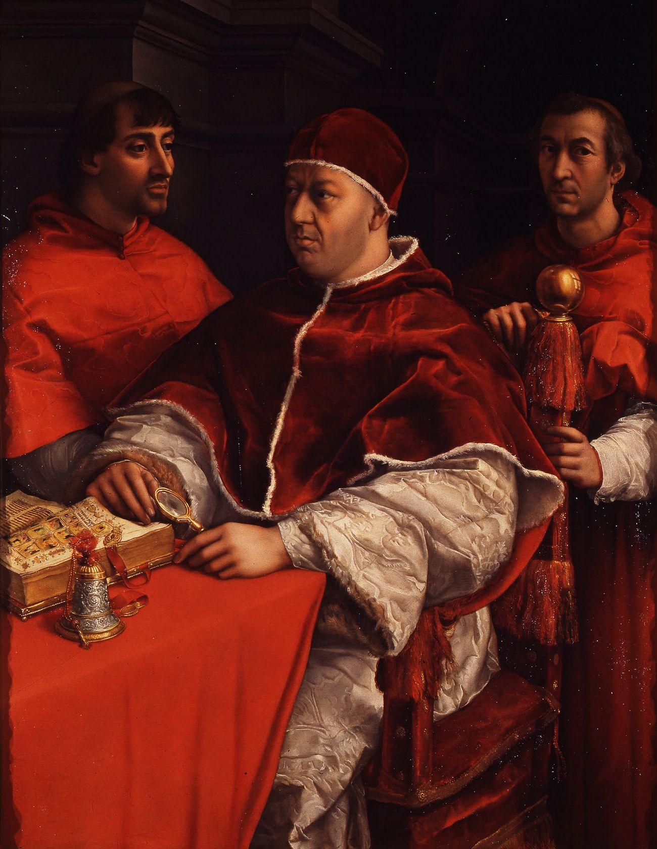 Zygmunt zadbał, aby to właśnie Jan został wyznaczony przez papieża Leona X (na portrecie pędzla Rafaela) na kolejnego biskupa wileńskiego.