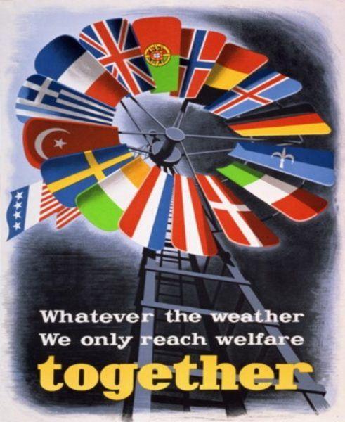 """Skala zniszczeń w krajach skandynawskich po II wojnie światowej była niższa niż w Europie Zachodniej. Niemniej jednak tak państwa te zostały objęte tak zwanym """"Planem Marshalla""""."""