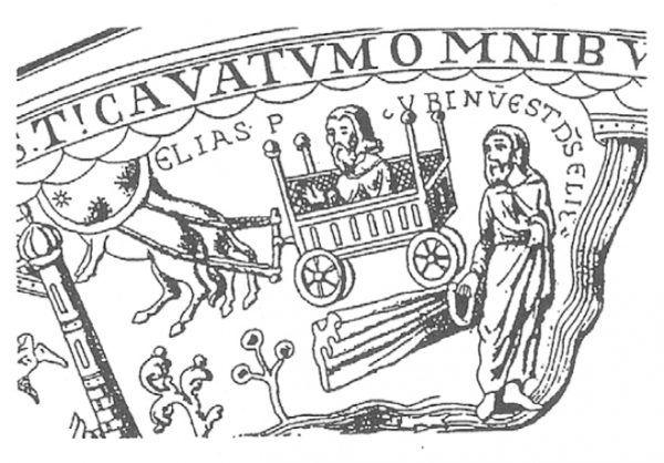 Wyobrażenie wozu na XII-wiecznym kielichu z Trzemeszna