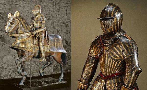 W Livrustkammaren można zobaczyć między innymi paradne zbroje Zygmunta Augusta (po lewej) oraz Władysława IV Wazy (dziecięcą).