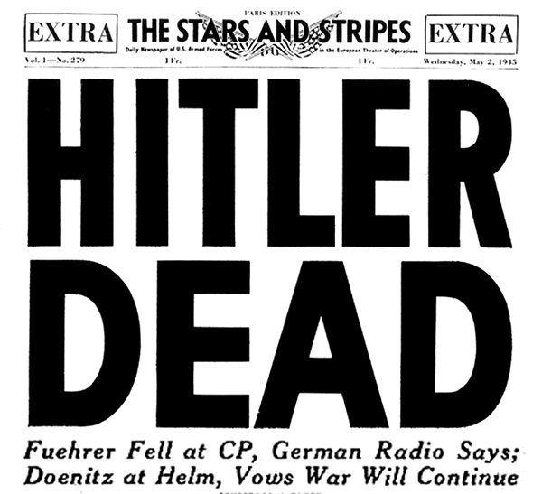 Prasa szybko zaczęła świętować śmierć Hitlera. Ale czy słusznie?