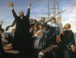 Już samo dotarcie do Nowego Świata, uwiecznione na płótnie przez Antonio Gisberta, wydawało się Pielgrzymom wielkim zwycięstwem.