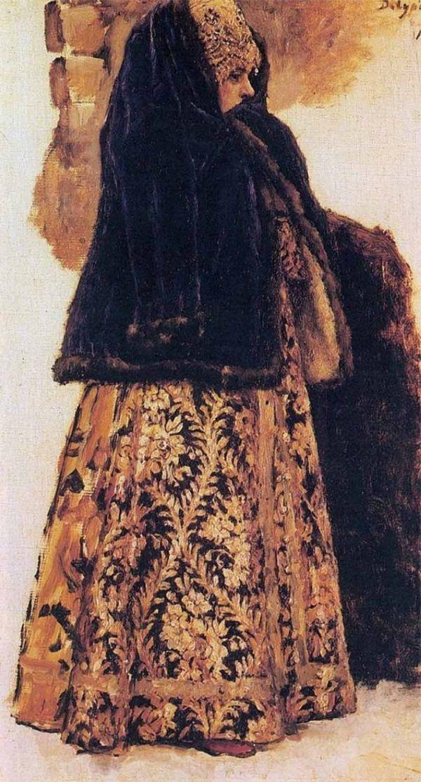 Żona rosyjskiego bojara (fot. domena publiczna)