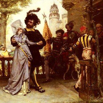 Le Droit du Seigneur. Obraz Julesa Garnira z drugiej połowy XIX wieku.