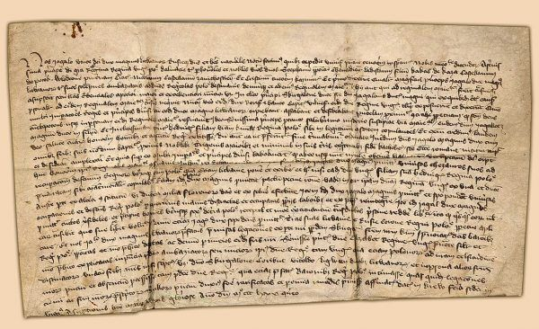 Oryginał aktu krewskiego przechowanych w archiwum katedralnym w Krakowie