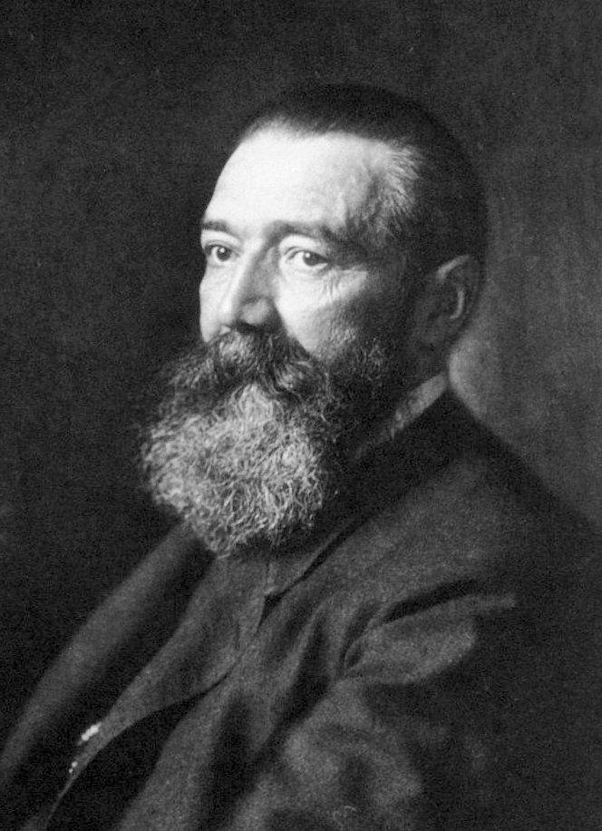 Paul Julius Möbius. Fotografia portretowa wykonana około 1900 roku.