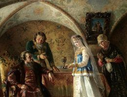 Scena z życia bojarów w XVII wieku (fot. domena publiczna)