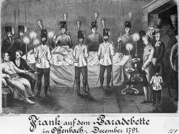 Po śmierci Franka jego zwolennicy złożyli mu uroczysty hołd.