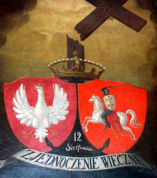 XIX-wieczny obraz upamiętniający unię polsko-litewską