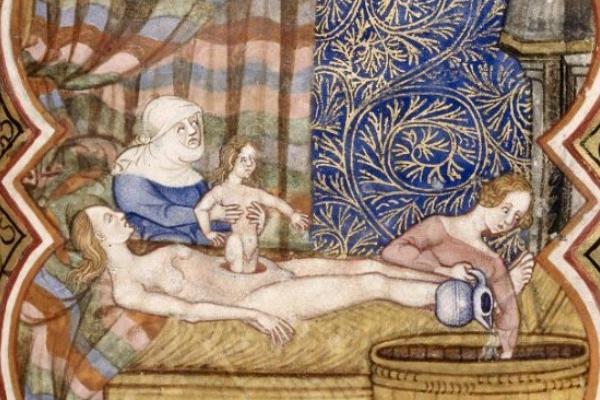 Cesarskie cięcie wykonywano w średniowieczu wyjątkowo rzadko. Zwykle służyło ratowaniu dziecka, wyciąganego z łona zmarłej matki.