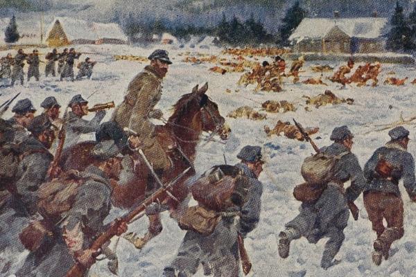 Nocny bój pod Rafajłową, stoczony przez legionowy 3 Pułk Piechoty.