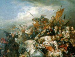 Średniowieczne bitwy często zamieniały się w krwawe masakry. Tak było na przykład pod Courtrai.