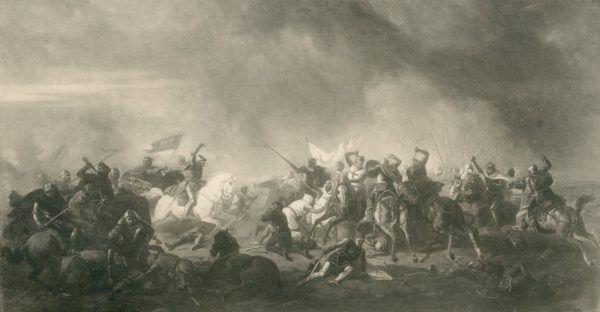 Bitwa pod Płowcami na obrazie Feliksa Sypniewskiego.